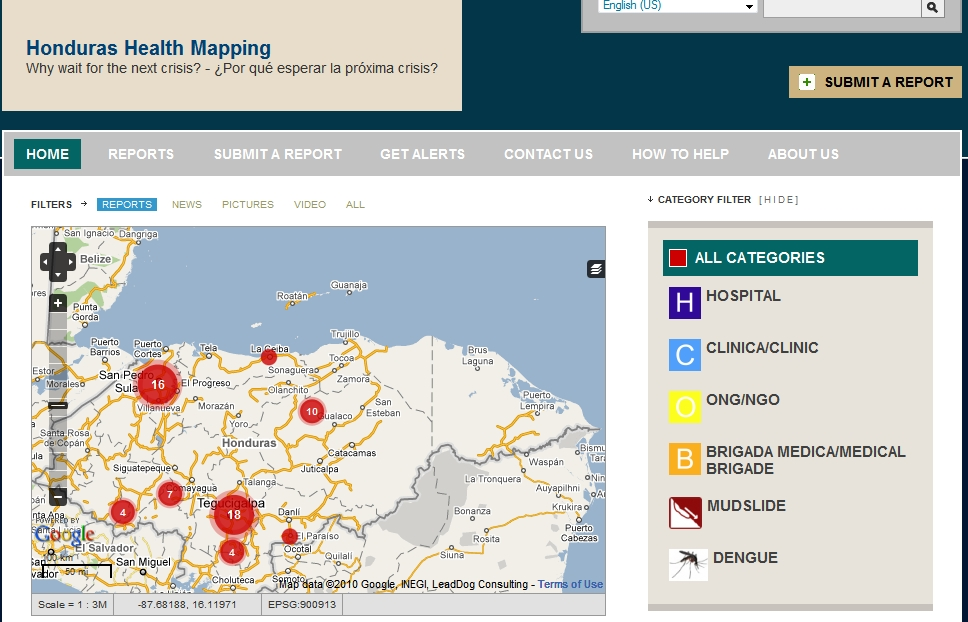Honduras Health Map