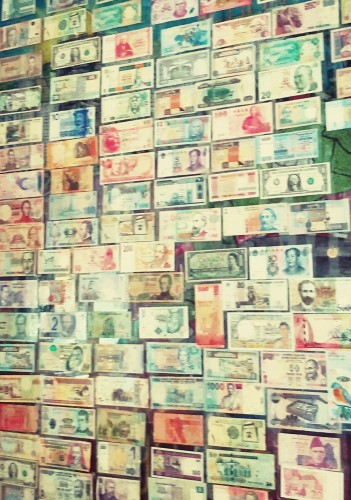 wall of currency