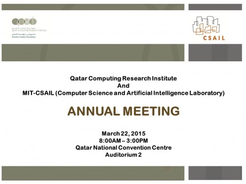 QCRI MIT CSAIL Annual meeting