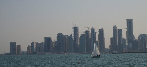 Doha Skyline from the water (November 2015)