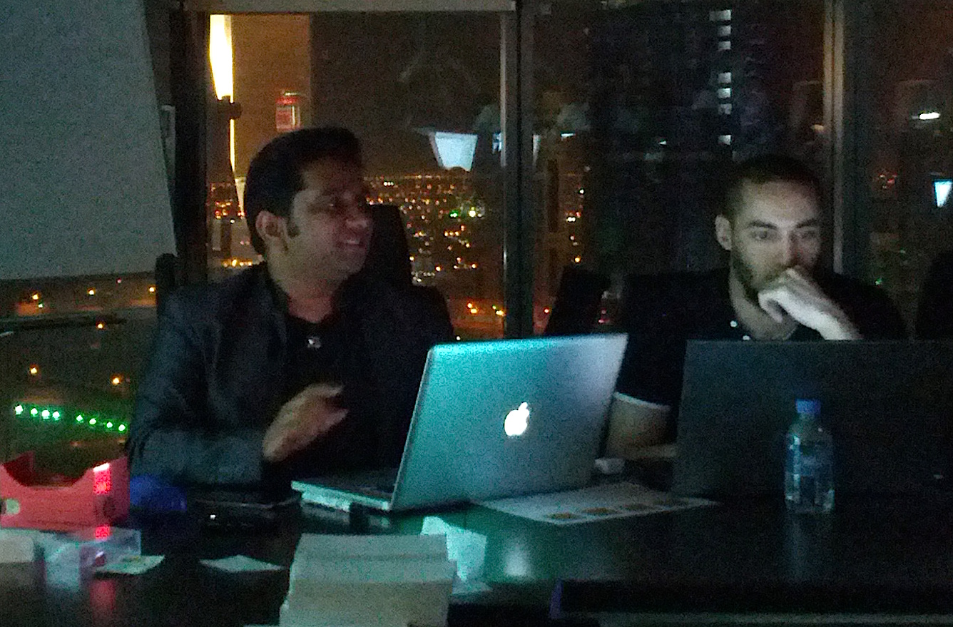 Sachin and Hicham at GDG