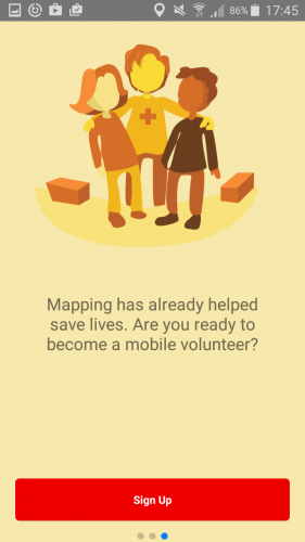 be a mobile volunteer with mapswipe